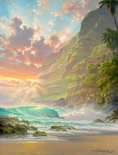 """New Beginnings"", by Roy Tabora Beautiful! Giclee on Canvas Available #art #hawaii"