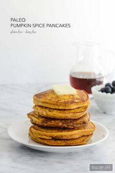 """Paleo Pumpkin Spice Pancakes are the perfect stack of breakfast cakes with a taste of fall 