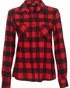 Urban Classics Checked Flannel Shirt TB338 RedWomens checked fitted shirtButton fastening frontBreast pockets100% Cotton flannel http://www.comparestoreprices.co.uk/fashion-clothing/urban-classics-checked-flannel-shirt-tb338.asp