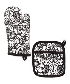 Look at this Black Damask Pot Holder