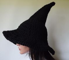 Crochet witch hat.