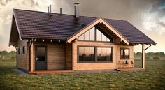 How to: Modernise a bungalow | homify | homify Small Villa, Forest Cabin, Wooden House, Log Homes, Architecture, Tiny House, House Plans, House Design, House Styles