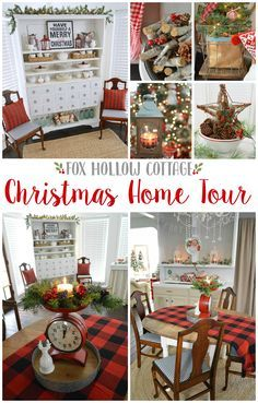 Fox Hollow Cottage Christmas Holiday Home Tour with Country Living - foxhollowcottage.com