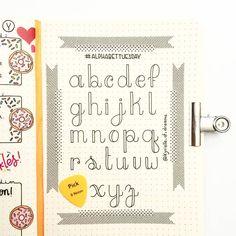 Bullet journal font idea, bullet journal hand lettering. | @kyrielle.of.dreams