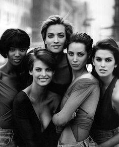 Naomi, Tatjana, Cindy, Christy, Linda. The original supermodels