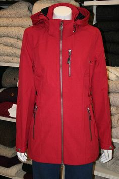 Leisurewear Jacket from Key West. Zip front fastener, and handy zipped pockets. Adjustable at waist and cuffs. Water repellant and wind resistant. Ireland Clothing, Key West, Summer Wardrobe, Fashion Outfits, Womens Fashion, Jacket Dress, Hooded Jacket, Knitwear, Cuffs