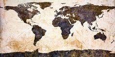 world map abstract canvas. perfect for the black and white travel themed bathroom