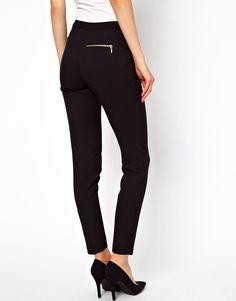 ASOS   ASOS Skinny Trousers with Zip Detail at ASOS
