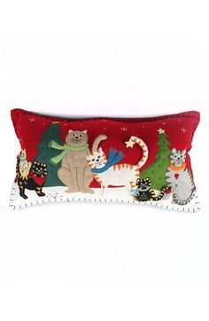 Free shipping and returns on New World Arts Six Cats Accent Pillow at Nordstrom.com. An appliquéd and embroidered accent pillow featuring a friendly group of cats adds a charming, homespun feel to your holiday décor.