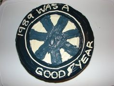 'Goodyear' tire cake for my mechanic son...