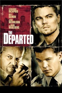 The Departed 2006 / Martin Scorsese / Leonardo DiCaprio / Matt Damon / Jack Nicholson / Vera Farmiga / Mark Wahlberg / Martin Sheen / Alec Baldwin Best Movies List, Top Movies, Movie List, Great Movies, Movies To Watch, Movies And Tv Shows, Popular Movies, Movies Free, Comic Movies