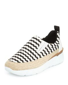 Zigzag+Slip-On+Espadrille+Sneaker+by+MSGM+at+Bergdorf+Goodman.