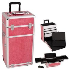 Amazon.com: Professional Rolling Makeup Train Case Color: Hot Pink: Clothing