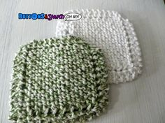 Green and White Spa Face Cloths