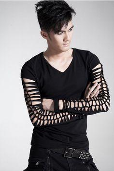 Punk Rave Fashion Mens gothic Visual Kei Black Tee Shirt top steampunk M L XL #PunkRave #PersonalizedTee
