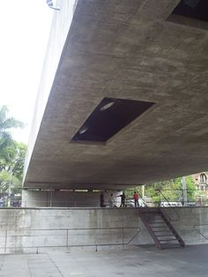 Brazilian Museum of Sculpture by Paulo Mendes da Rocha in Sao Paolo, 1988