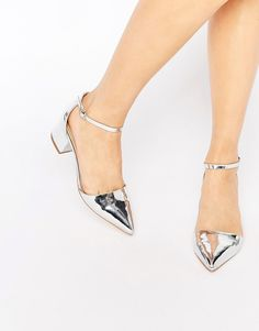 Truffle Collection Molly Ankle Strap Mid Heeled Shoes #party