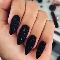 stylish gorgeous glam natural nail art design tutorial polish manicure gel painting creative color paint toenails sexy feet art videos acrylic 👌All nail art products to have fairy nails 🧚💅 Black Nails With Glitter, Black Nail Art, Glitter Art, Black Polish, Acrylic Nails Glitter, Cute Black Nails, Black Silver Nails, Glitter Pedicure, Black Pedicure