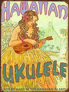 Hawaiian Ukulele Metal Sign, Rick Sharp Art, Vintage Hula... https://www.amazon.com/dp/B00ILENLDK/ref=cm_sw_r_pi_dp_x_-rzJybEFSQ709