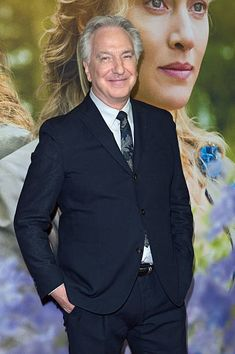 Alan Rickman attends the German premiere for the film 'A Little Chaos' (german title: 'Die Gaertnerin von Versailles') at Kino in der Kulturbrauerei on April 22, 2015 in Berlin, Germany.