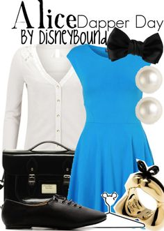 Disney Bound: Alice from Disney's Alice in Wonderland (Dapper Day Outfit) Lady Like, Edna Mode, Dapper Day Outfits, Cute Outfits, Alice In Wonderland Outfit, Disneybound Outfits, Disney Inspired Fashion, Disney Fashion, Disney Dress Up