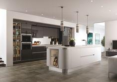 Thatcham Kitchens  Mereway Kitchens  Cucina Colore  Futura Graphite  Linen  And Pale Grey