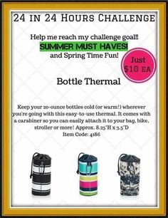 24 hour Bottle Thermal challenge!