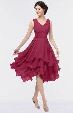 114c3c3a3c7 Elegant V-neck Sleeveless Zip up Ruching Bridesmaid Dresses Coral Bridesmaid  Dresses