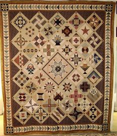 Civil War Quilts: if you put a LARGE BLOCK in the CENTER--- a feathered star is always eye-catching--- you need fewer than 52