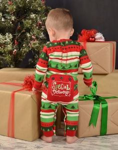 We know that the infant in your family is probably the best special delivery you got all year! Make sure to get these awesome Infant Onesie Flapjacks to tell the wor Toddler Christmas Pajamas, Matching Christmas Pajamas, Christmas Pjs, Newborn Christmas, Christmas Clothing, Christmas Quotes, Christmas Trees, Christmas Crafts, Christmas Decorations