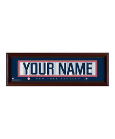 This New York Yankees Personalized Framed Print by Prints Charming is perfect! #zulilyfinds
