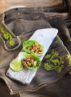 Mongdratzerl im Salatblatt
