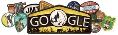 Irony in action -- the Google doodle of the day -- Oct. 1 2013 -- is for a national park that can't be physically accessed because of the government shutdown.
