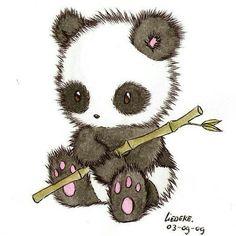 Adorable pandita dibujados