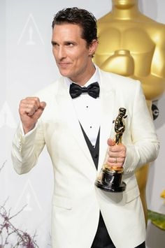 """A week after McConaughey claimed the Best Actor statuette for """"Dallas Buyers Club,"""" the 43-year-old star is the consensus pick of early-bird Emmy pundits to take Outstanding Lead Actor in a TV Movie or Miniseries for HBO's """"True Detective."""" If the buzz holds, McConaughey will be the first Best Actor Oscar-winner to take home an Emmy in the same year."""