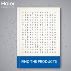 #WeekendFun: Time for a fun game. Can you find out all of Haier's products from the crossword?