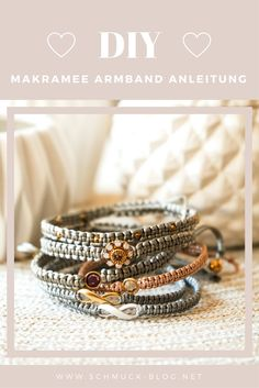 Making macrame bracelets - simple instructions - Make your own DIY macrame bracelet with this simple guide (plus video). High Jewelry, Jewelry Shop, Pearl Jewelry, Jewelry Making, Jewlery, Macrame Bracelet Diy, Macrame Jewelry, Beaded Bracelets, Diy Bracelets With String