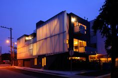 glass townhouses - Sander Architects