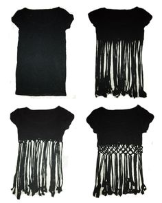 ➳➳➳☮American Hippie DIY - Cut a T-shirt and knot to make a cute Fringe summer crop top .. Easy!