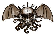 Myke Amend Airship Pirate Decal - SALE! - ettadiem.com/catalog/current-sales/ #steampunk #airships #pirates