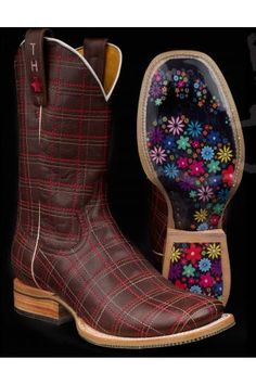 Women's Pink Tin Haul Gals Plaid Boots Western Clothing
