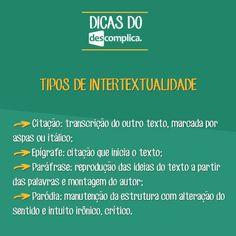 Você sabe todos os tipos de Intertextualidade? Clique na imagem para assistir à aula em vídeo sobre o assunto.