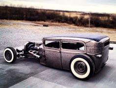 Raw metal rat rod