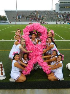 <3 I think pink pom poms and bows would be cute to use for breast cancer awareness month :)
