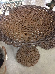 chain link tables Rust, Tables, Chain, Link, Furniture, Home Decor, Mesas, Decoration Home, Room Decor