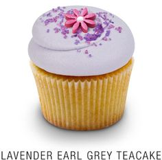 Classic Madagascar Bourbon vanilla cupcake infused with lavender and earl grey tea, topped with a lavender infused buttercream frosting, a fondant flower, and a sprinkle of lavender sugar (no recipe)