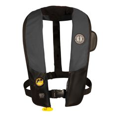 Mustang Deluxe Automatic Inflatable PFD - Black/Carbon - https://www.boatpartsforless.com/shop/mustang-deluxe-automatic-inflatable-pfd-blackcarbon/