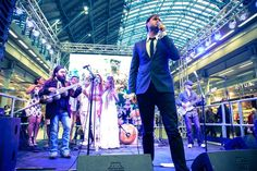 "In unison with musicians in Paris and Madrid, the concert ended with Bo Saris, the Urban Voices Collective and the No Hunger Orchestra performing a euphoric finale of Ben E. King's ""Stand By Me"" — at St Pancras International."