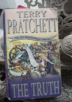 The Truth by Terry Pratchett. One of my favourite Discworld novels – Photo by me, CC license: Attribution, Noncommercial, Share Alike