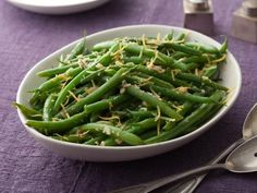 Get Green Beans with Lemon and Garlic Recipe from Food Network